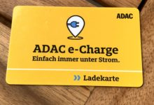 ADAC e-Charge Ladekarte