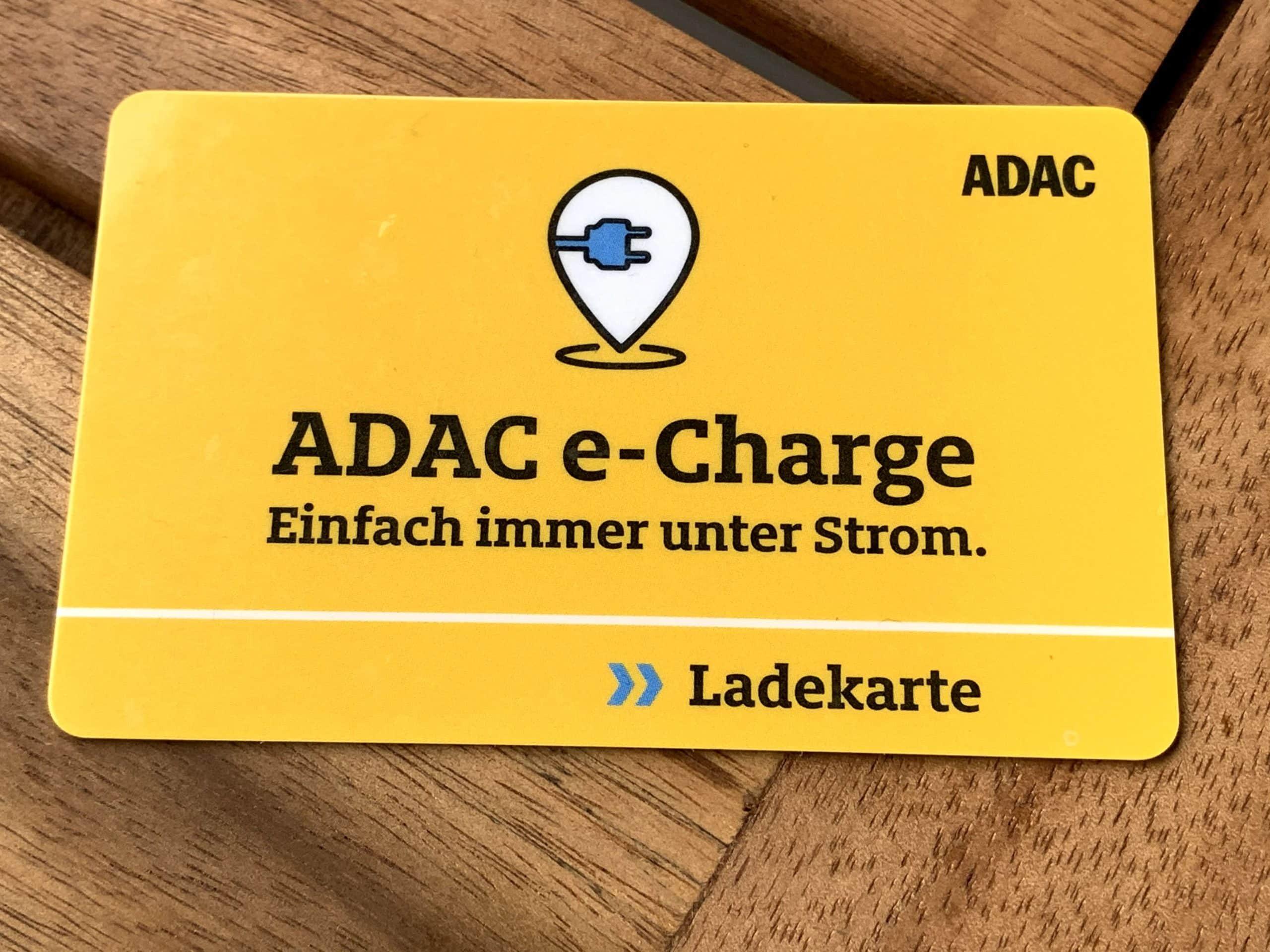 ADAC e-Charge Ladekarte